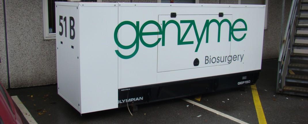 Folieindpakning af generator for Genzyme