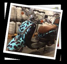 Scooter folieindpakning